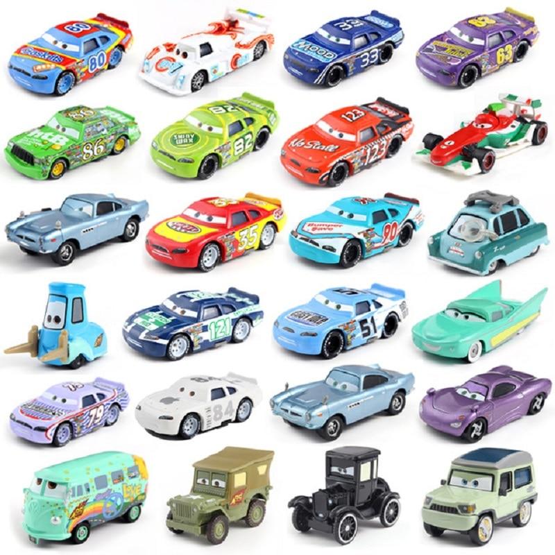 Disney Pixar araba 3 yıldırım McQueen yarış aile aile 39 Jackson fırtına Ramirez 1:55 Die Cast Metal alaşım oyuncak araba