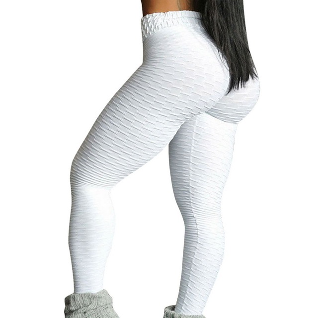 10colors Hot Women Leggings Pants Sexy White leggins Push Up Slim Gym Exercise High Waist Fit Slim Running Athletic Trousers 5