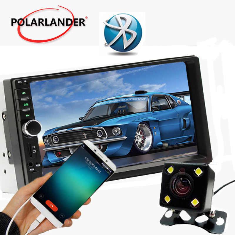 """7 """"インチユニバーサル 2 Din HD サポート 5 言語メニューの bluetooth FM TF USB 車ラジオ MP5 MP4 プレーヤータッチスクリーンミラーリンク"""