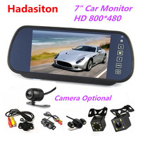 Kamera cofania system.7 calowy ekran tft lcd Monitor samochodowy lusterko wsteczne + noktowizyjna kamera cofania opcjonalnie w Monitory samochodowe od Samochody i motocykle na