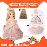 OUENEIFS 1/6 bjd sd doll Hebbe add Wig and beautiful Clothes and Shoes Discount Combined Package Fashion shop