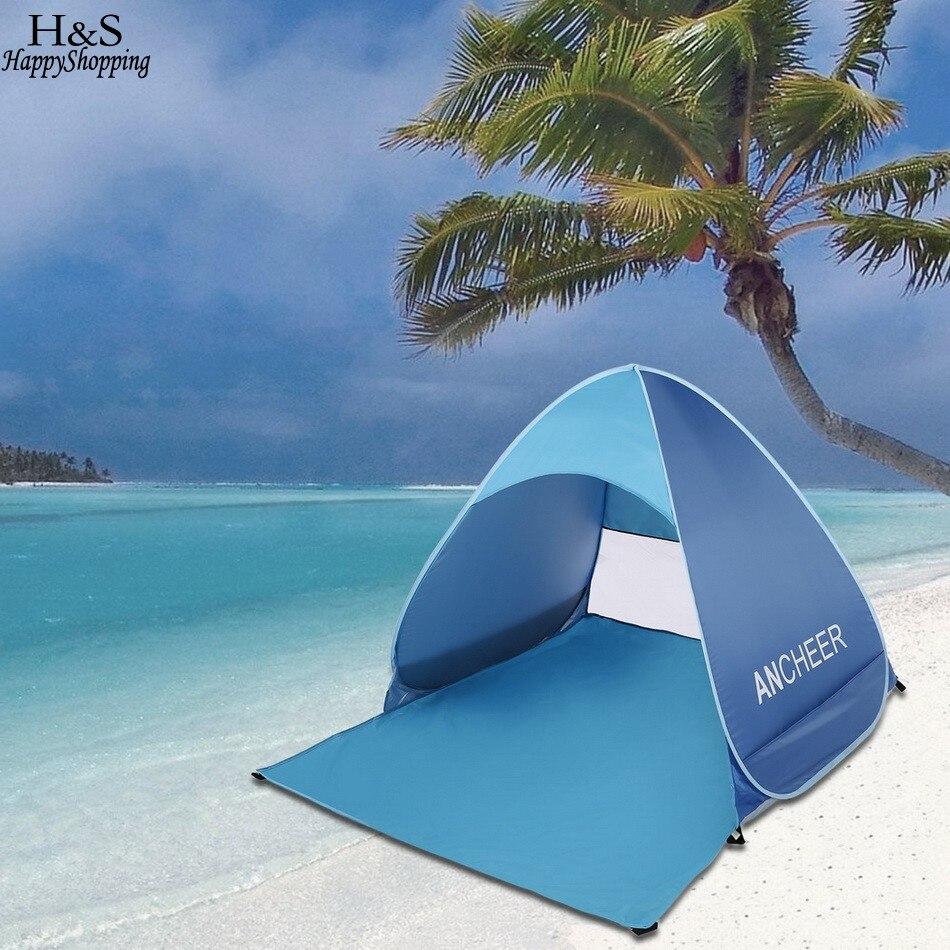 new beach sun shelter tent 190T Polyester Pop Up Tent 90% UV avoid Sun Shelter Single Camping Beach