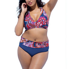 Telotuny High Waist Bikini Plus Size Bohemian Printing Beach Bathing Suits  Swimsuit Women Beachwear One Shoulder Swimwear Dec10 c3887eb1b8a5