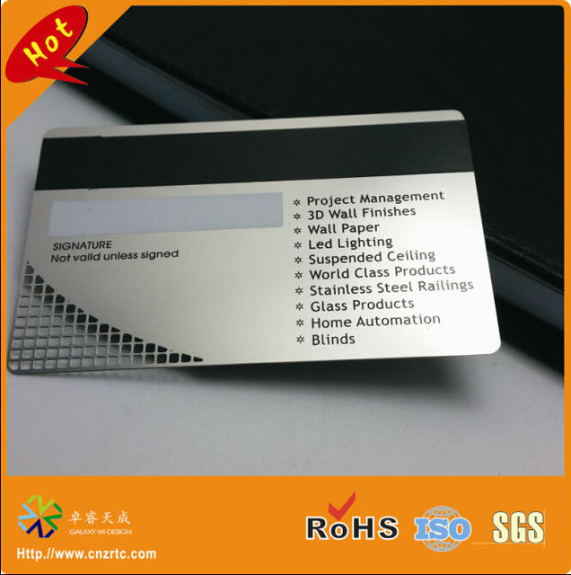 New credit card size high co magnetic metal card with signature new credit card size high co magnetic metal card with signature panel magnetic metal card colourmoves