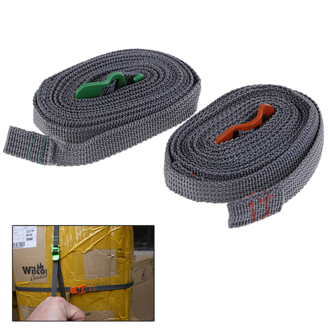 Camping Hiking Rope Durable Quick Release Luggage Strap with Stainless Steel Hook Outdoor Tool