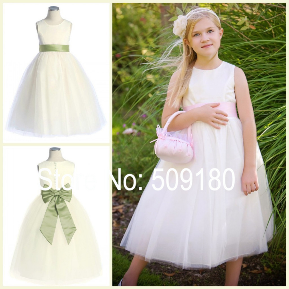 2016 Latest Designer New Design Little Girl Dresses For Wedding Party Ball Gown full-length FG022 wedding girls princess dress