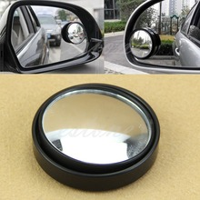 1PC Wide Angle Round Convex Blind Spot Mirror Rear View Messaging Car Vehicle Silver/Black fold car silver bonnet rear mirror exterior hoods covers blind wide angle rear side mirror rear glass for all cars universal