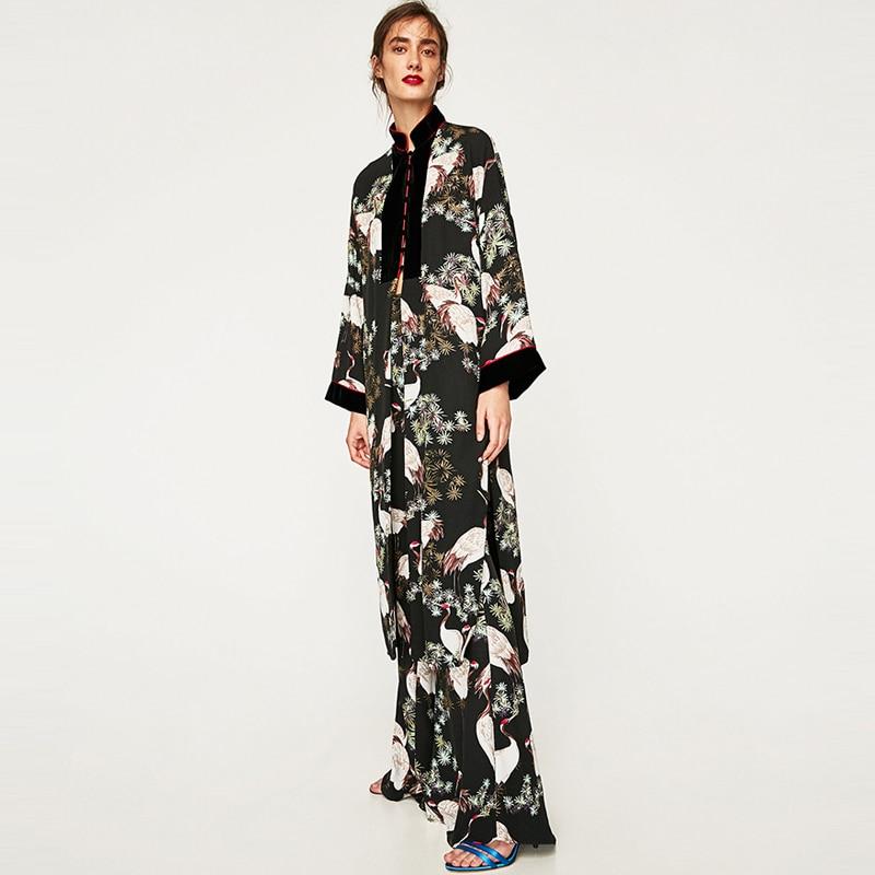 huge selection of d9cb0 e2b52 Moda Donna Red Gru Coronata Stampa Stile Kimono Giacca ...