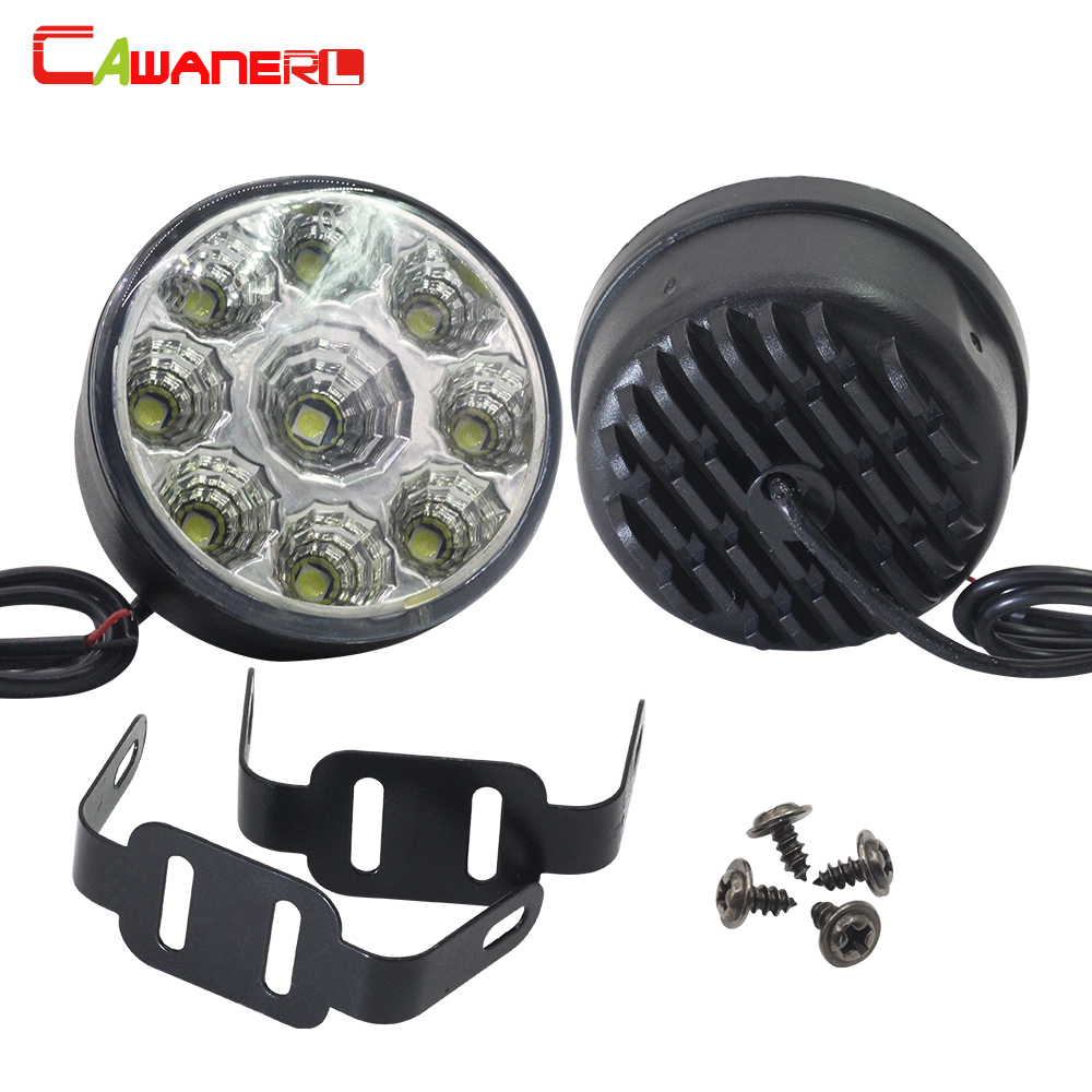 Cawanerl 2 x LED Car Fog Light Driving Daytime Running Lamp DRL White 12V For Renault Lada VW Dodge Nissan Toyota Mitsubishi Kia leadtops led daytime running light 2pcs 100% cob chip led diy drl fog car lights car day lamp 12v for audi vw toyota mazda be