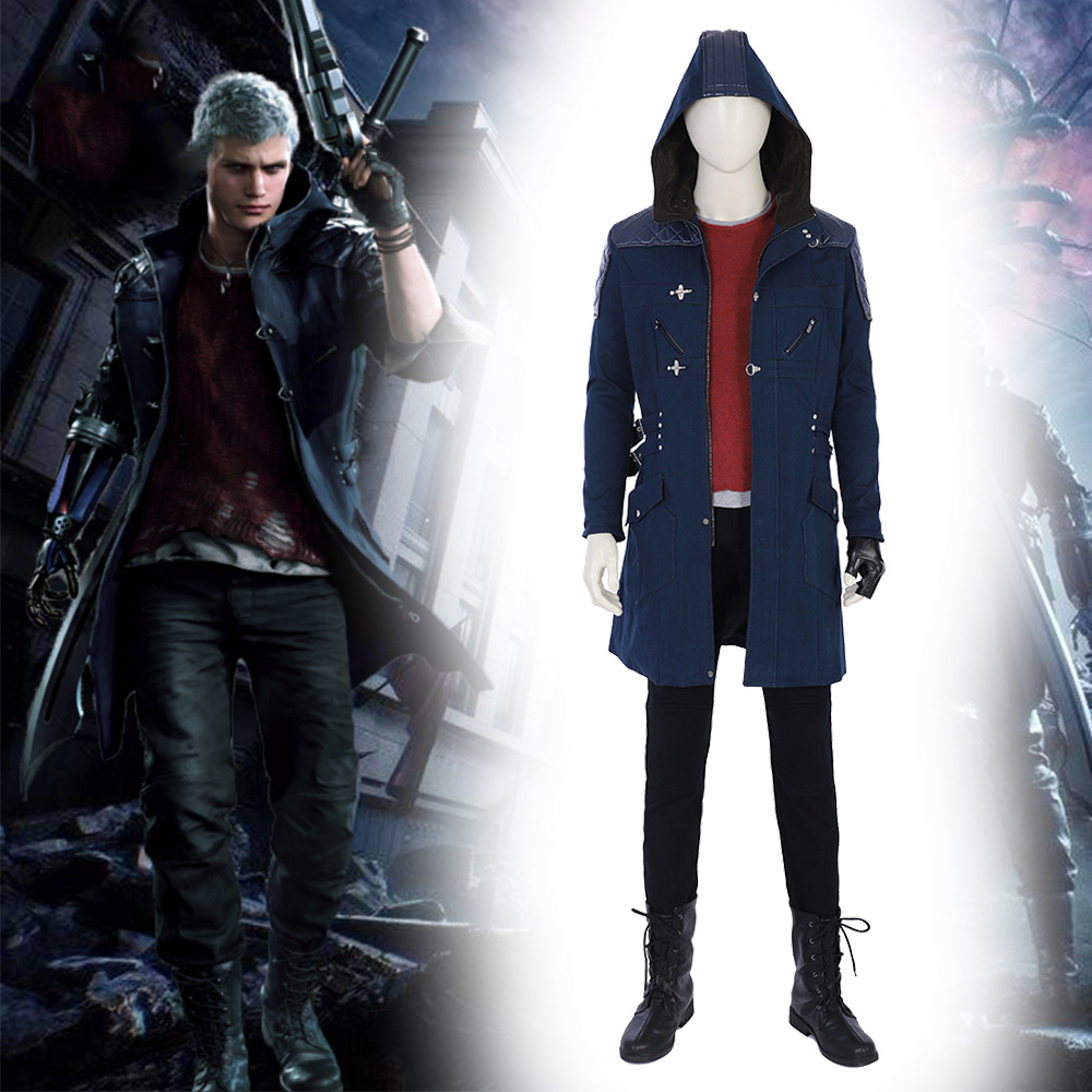 Halloween game Devil May Cry 5 cosplay Nero cosplay Costume custom made size set High Quality