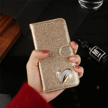 Love Jewell Case For Samsug Galaxy A50 A40 A70 A20E Glitter Bling Leather Flip Case For Samsung A 50 70 40 20E Phone Cover(China)