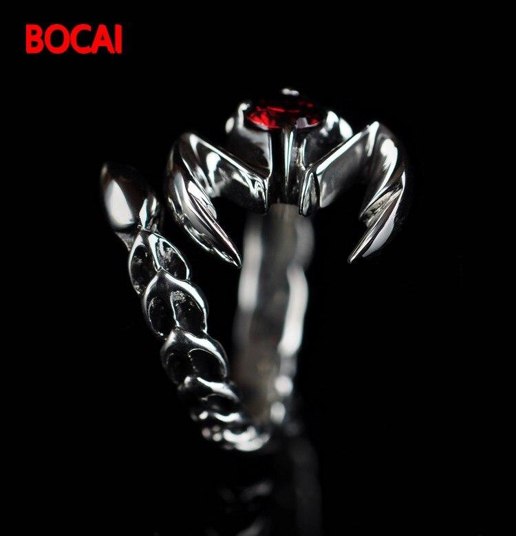 лучшая цена 925 sterling silver jewelry silver scorpion men opening ring Scorpio 025321w