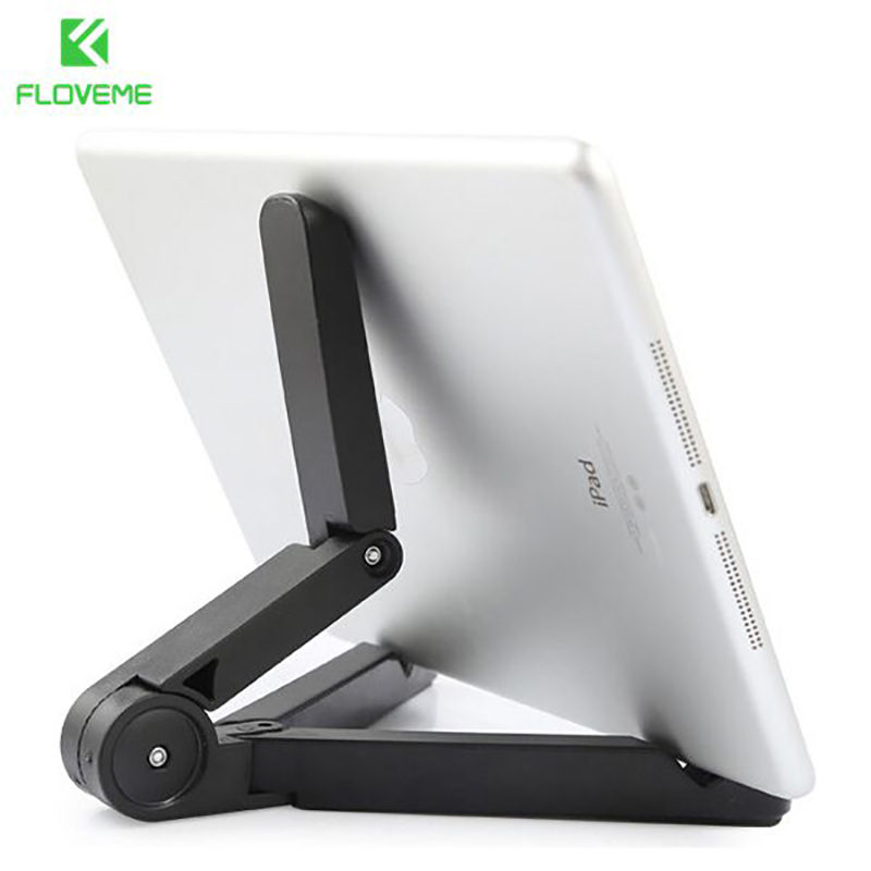 FLOVEME Flexible Tablets Phone Stand Case for iPad 2 3 4 Air 2 Mini for iPhone 4 5s 6 6S Plus For Galaxy S5 S6 Edge 360 Folded