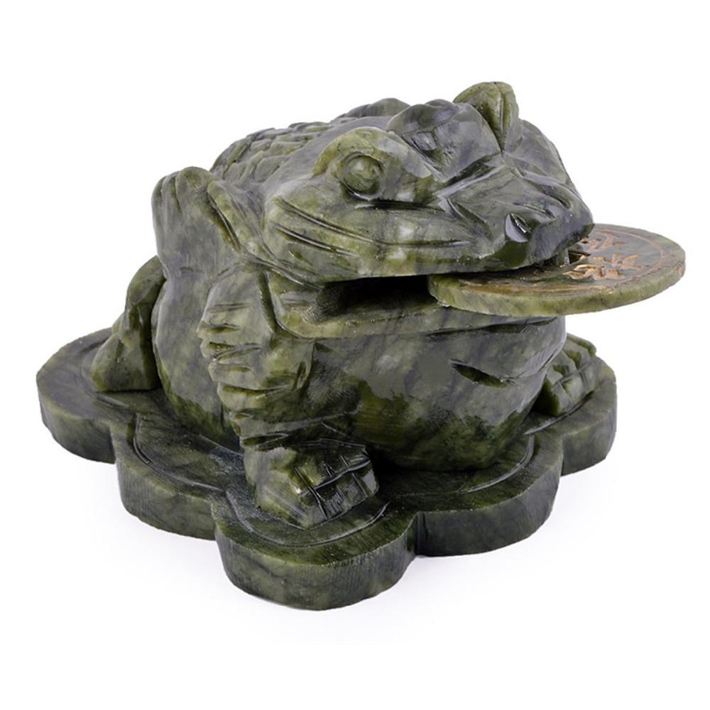 Feng Shui Big Imitation Jade Money Frog padde for rikdom 4,7x3,3x3,2 - Hjemmedekorasjon