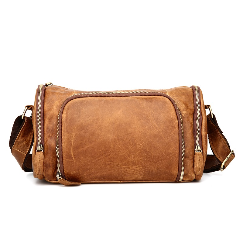 Casual Men Messenger Bags Fashion Genuine Leather Men's Shoulder Bags Famous Brand Travel Bags Cowhide Office Bag #MD-B349 padieoe men s genuine leather briefcase famous brand business cowhide leather men messenger bag casual handbags shoulder bags