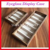 Free Shipping Luxury Solid Wood Optical Frame Reading Glasses Sunglasses Display Case Travelling Box For 4pcs 7pcs Of Glasses 4D