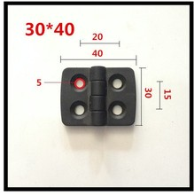 20pcs/lot 30*40 plastic hinges for door new ABS nylon black hinge 40 * 30mm large spot hot sale Promotions