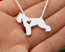 Ожерелье с подвеской в виде собаки шнауцера ювелирные изделия