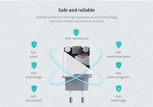 Image 4 - Nillkin qc 3.0 電話 USB 充電器 3A 急速充電器米国、 EU 、英国旅行充電器 USB ウォール電話の充電器 xiaomi ため onePlus 7 AC アダプタ