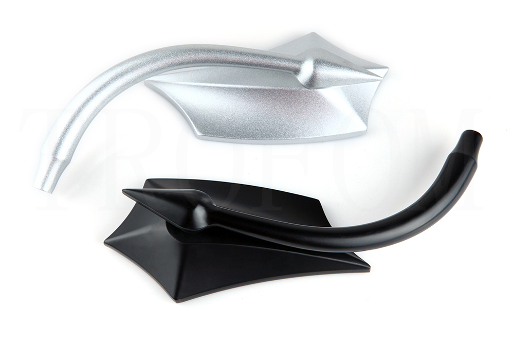 Universal demon cnc motorcycle side mirror rearview for Mirror 750 x 1200