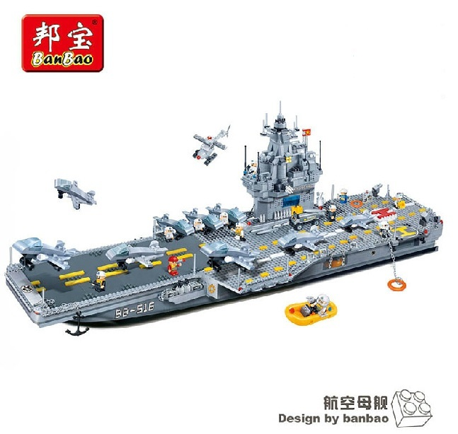 Model building kits compatible with lego city Military Aircraft carrier 865 3D blocks Educational toys hobbies for children 8 in 1 military ship building blocks toys for boys