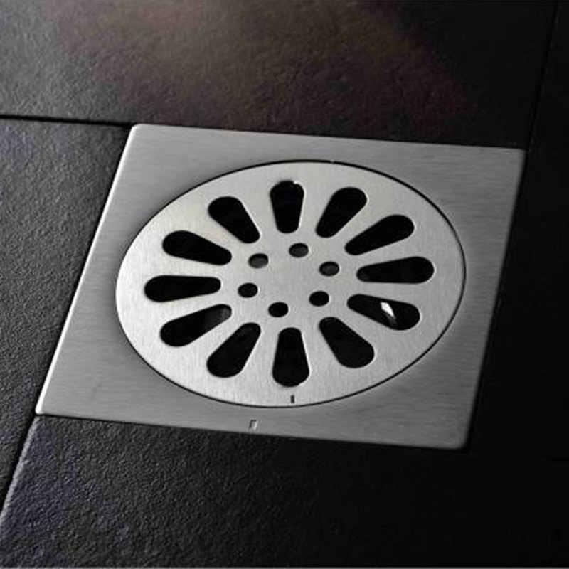 Temkunes مصارف أرضيات 10 سنتيمتر دش مصرف الأرضية حمام من الفولاذ المقاوم للصدأ مزيل العرق مربع النفايات مصفاة غطاء صر