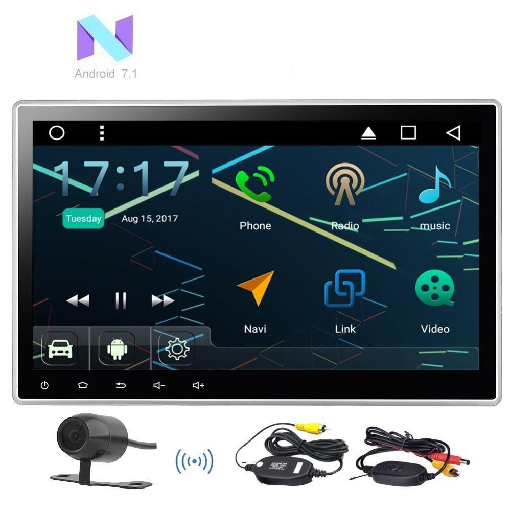 eincar 10 1 android 7 1 car radio stereo universal 2din. Black Bedroom Furniture Sets. Home Design Ideas