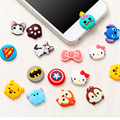 Bonito dos desenhos animados home button sticker para iphone 5 6 6 s plus para samsung s6 s7 edge adesivo do silicone do telefone móvel para casa butto