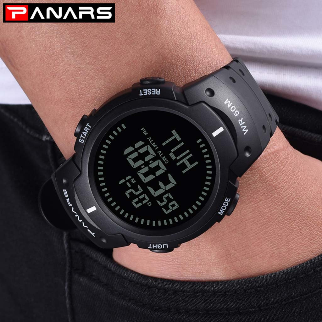 Digital Electronic Sport Watch Military Waterproof LED Outdoor For Compass Watch  Electronic Watch digital Watch fashion gif Men