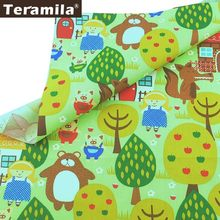 Teramila 100% Cotton Fabric Fairy Tale Style Tissu Child Cloth Bed Sheet Patchwork Pillow Quilting Sewing Home Textile Telas(China)