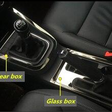 Рамка из нержавеющей стали, стеклянные блестки, консоль, коробка передач, блестки, автомобильные наклейки для 2012- Volkswagen VW JETTA 6 MK6