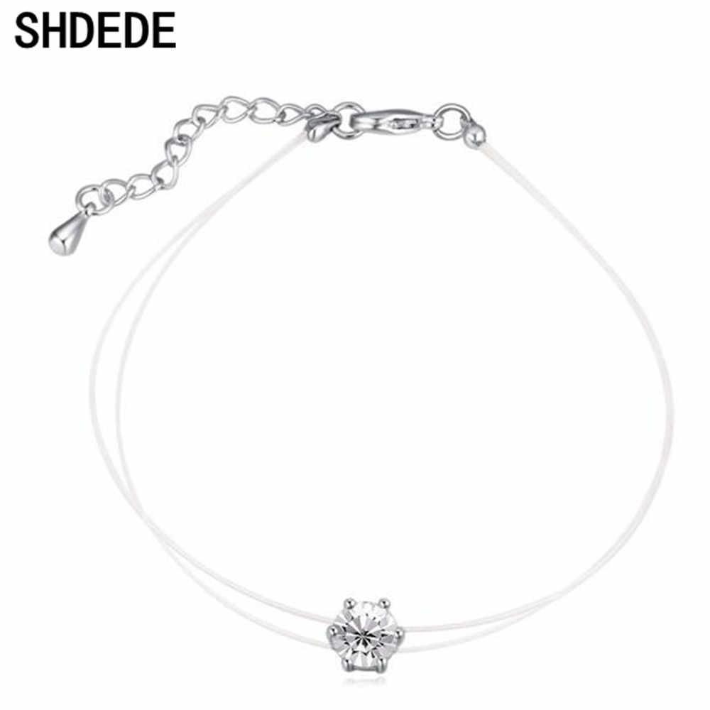 SHDEDE женские ювелирные изделия из кристаллов Swarovski рыболовная линия цепь Шарм ювелирные изделия, браслеты подарок для девушки Повседневная *-21566