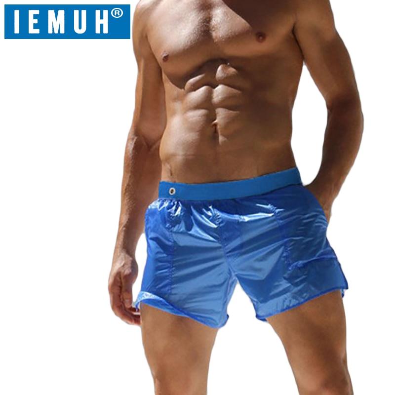 IEMUH Brand Summer Swimwear Men   Shorts   Swimsuits Swim Trunks Boxer Man Breathable Briefs Surf   Board   Sunga Swim Suits Beach   Short