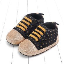 0b261bc61b10f1 (Dostawa od US) Nowonarodzone dziecko maluch gwiazda druku na płótnie  buciki miękka podeszwa buty w stylu casual trampki damskie buty sportowe l.