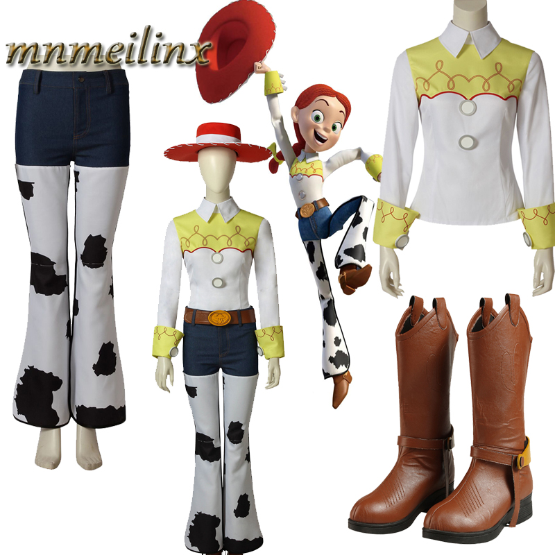 New Arrival Toy Story Jessi Cosplay Costume Woody Cowboy Costume Outfit Unisex Any Size Halloween Full Set Custom Made