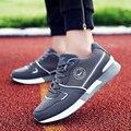 Esportes dos homens da marca sapatos ao ar livre tênis para caminhada sapatas de esteira da Aptidão entretenimento plana lace-up sapatos runing zapatos size39-47