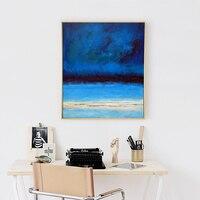 MUYA Vertical pintura a óleo Abstrata na lona handmade reprodução da pintura famosa oceano azul moderno pictures para sala de estar