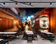 beibehang Retro Street Japanese Restaurant Personality Decorative Painting papel de parede 3d Wallpaper Background