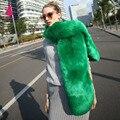 Quente Lenço da Pele Gola de Pele De Raposa da Pele Do Falso Cap Xale Cachecóis de Lã de Guaxinim Colarinho Falso Para As Mulheres Nova Moda de Inverno