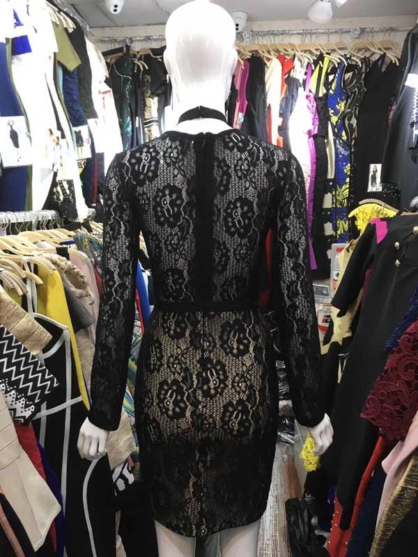 2 Noir Halter Fashion Club Dentelle V cou Couleurs À Manches Celebrity Robe Night Élégant Sexy Longues De Blanc Lacée Fête eHEDI2YW9