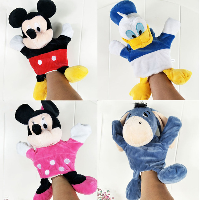 Infant Children Hand Puppet cute cartoon animals with foot kids baby plush Stuffed Toy Puppets toys Christmas birthday gift