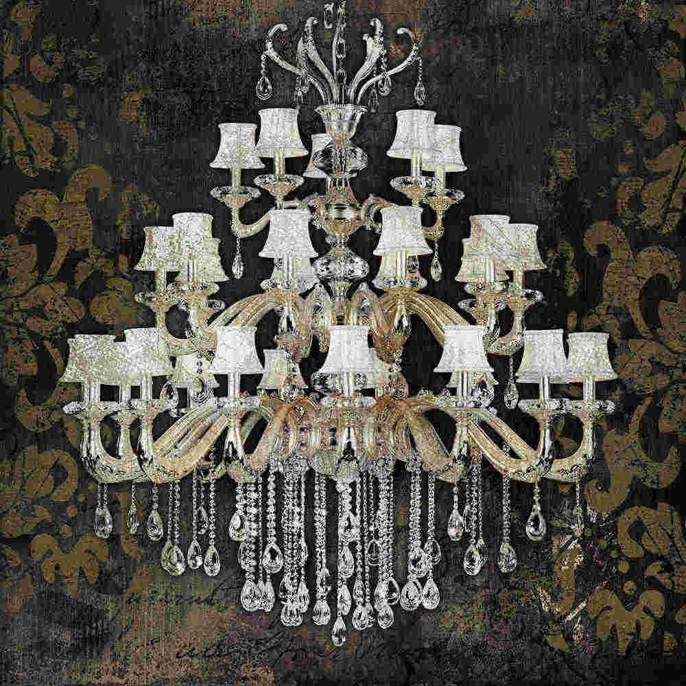 Modern still life painting canvas art crystal chandelier pattern retro living room bedroom wall art posters and prints original