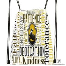 Custom Hufflepuff Logo@091 Drawstring Backpack Bag Cute Daypack Kids Satchel (Black Back) 31x40cm#180531-02-26