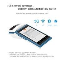 Pantalla táctil de 5 5 pulgadas inalámbrico móvil al aire libre máquina de pago 1D/2D android 6 0 terminal de mano POS con impresora térmica