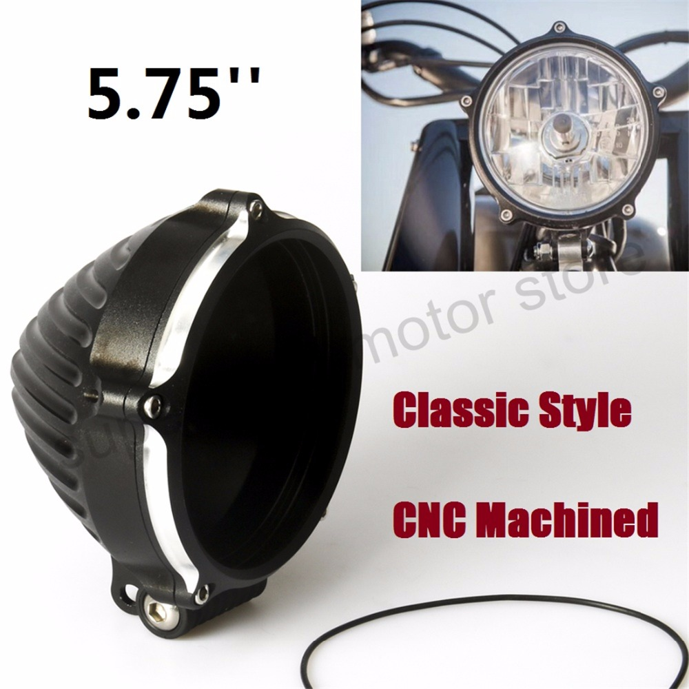 5.75'' Motorcycle Headlight Cover With Bottom Mount Configuration CNC Machined For Harley sportster dyna softail motorcycle accessories cnc derby timing timer cover for harley sportster xl883 xl1200 2004 2005 06 07 08 09 2010 2011 2014 black