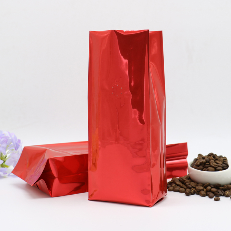 1 Pound Coffee Dried Fruit Goods Meat Grains Storage Bag 500g Air Stand Heat Back Four Side Foil Open Top Valve Side Gusset Seal in Storage Bags from Home Garden