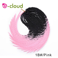 New Arrival 20 Inches Soft Dread Locks Braids Hair Extensions Ombre Braiding Hair 20 Strands/pack Synthetic Faux Locs Braids
