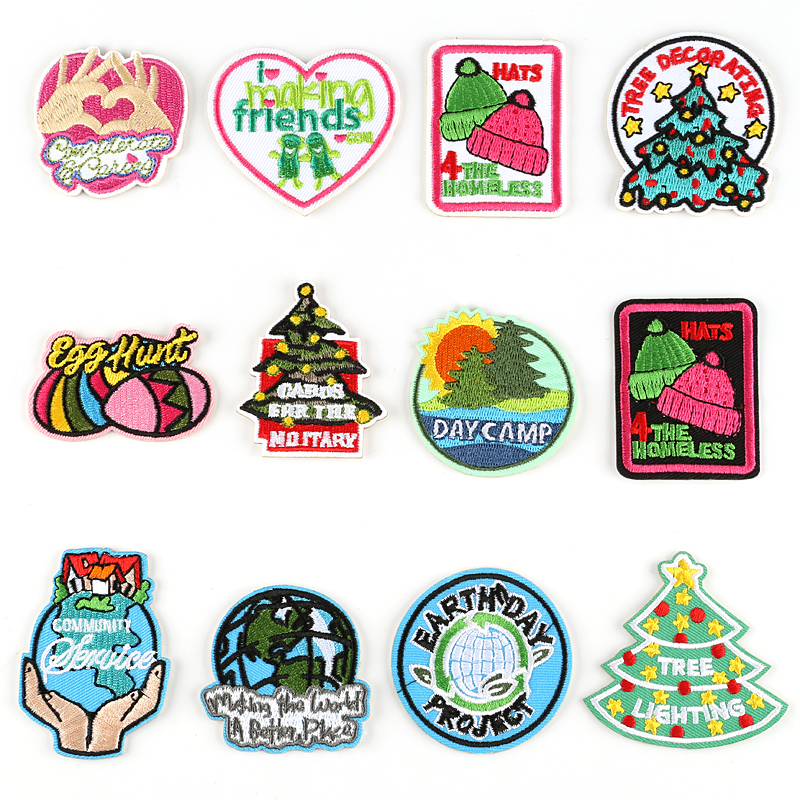Christmas Tree Patch: 3M Self Adhesive Christmas Tree Patches For Kids Tops