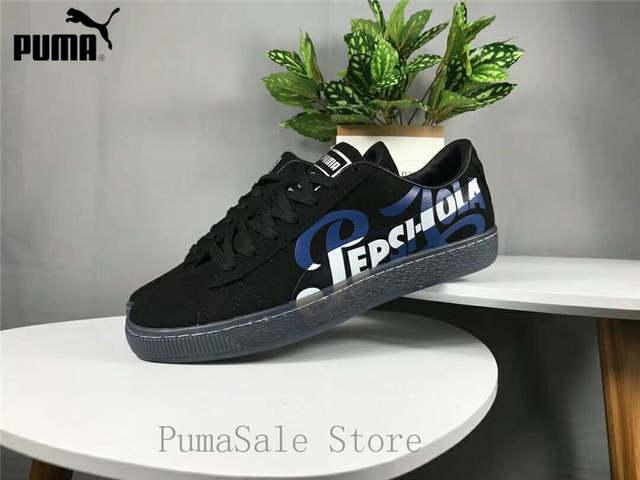 wholesale dealer c54d1 bb16b New Arrival Puma Suede Classic X Pepsi Mens Black Suede Lace Up Sneakers  366332-02-01 Badminton Shoes Size EUR39-44
