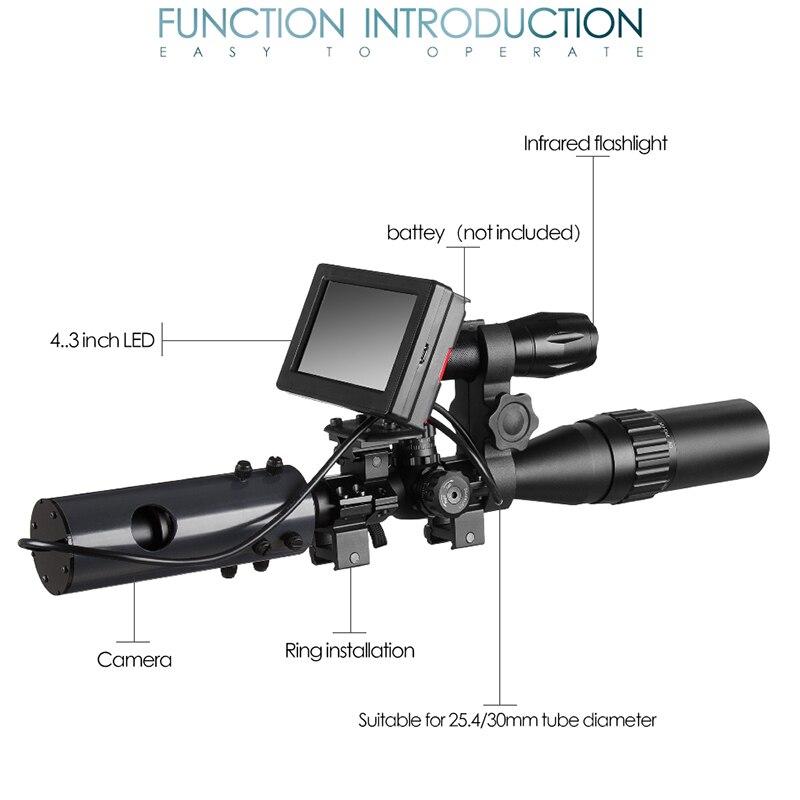 850nm infrarouge led IR Vision nocturne dispositif portée caméras de vue en plein air 0130 étanche faune piège caméras A - 5